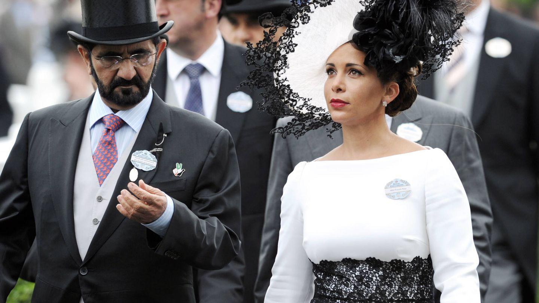 La princesa Haya con su marido en Ascot, cita a la que eran asiduos, en 2014. (Getty)