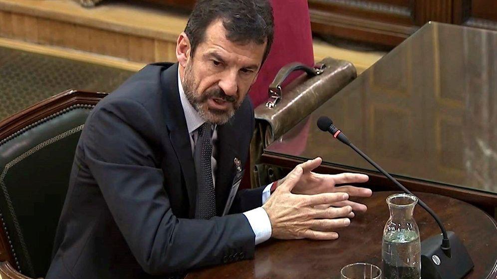 Foto: Imagen capturada de la señal institucional del Tribunal Supremo del comisario de los Mossos d'Esquadra Ferran López. (EFE)