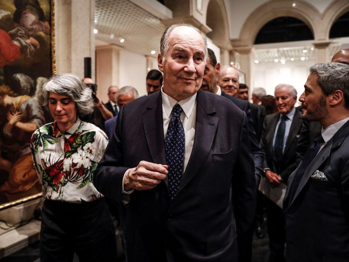 Foto: El príncipe Aga Khan IV dona tres cuadros al Gobierno portugués. (EFE)