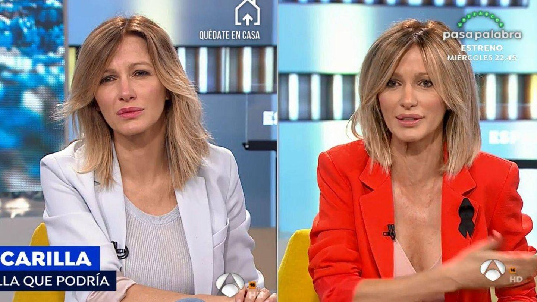 Susanna Griso, antes y después de recuperar a su equipo de estilistas. (Atresmedia)