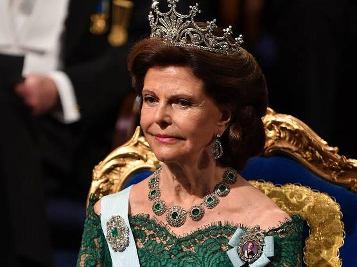 Foto:  La reina Silvia de Suecia, hospitalizada. (Getty)