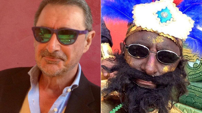 Imágenes subidas por el periodista en Twitter. La de la derecha, el paje con el que le confundieron.