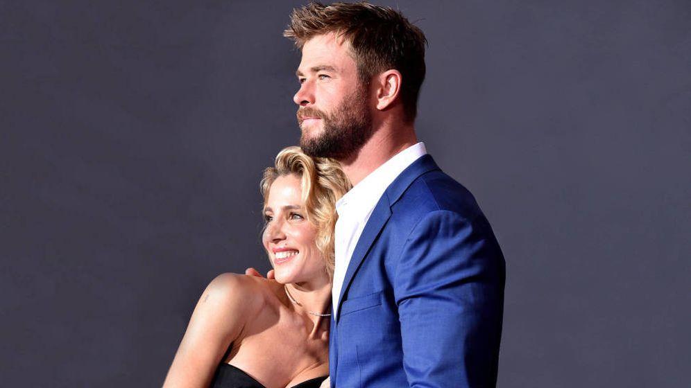 Foto: Elsa Pataky y Chris Hemsworth en una imagen de archivo. (Getty)