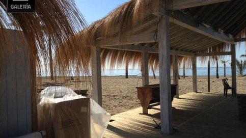Un incendio acaba con el chiringuito de Marbella 'Playa Padre'