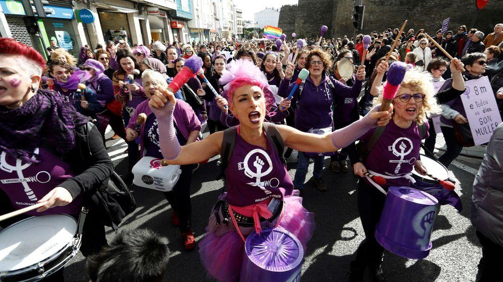 Foto: Concentración feminista en Galicia. (EFE)