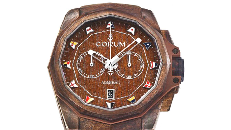 Foto: La excelente aleación del nuevo Corum tiene una peculiaridad: ha sido totalmente patinado para ofrecer un diseño diferente a la de otras compañías.