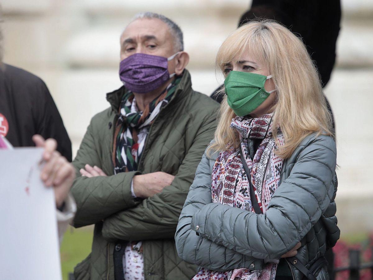 Foto: El secretario general de UGT, Pepe Álvarez, y la secretaria general de UGT Andalucía, Carmen Castilla. (EFE)