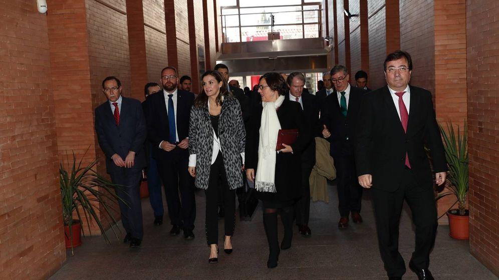 Foto: La Reina a su llegada al acto. (Casa Real)