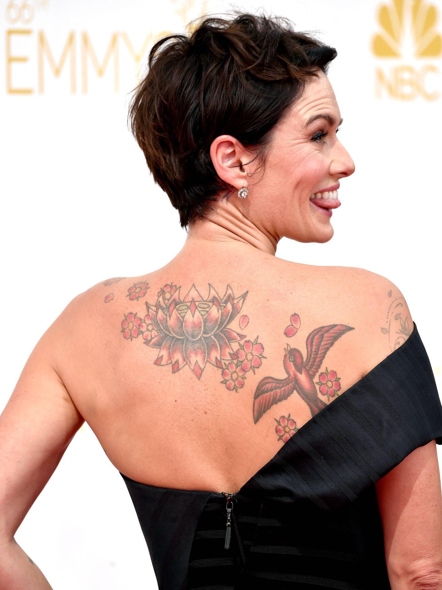 Como muchos de sus compañeros de reparto, Lena es fan de los tatus. (Getty)