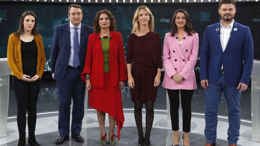 Feminismo y Cataluña desatan la máxima tensión en el debate a seis en TVE