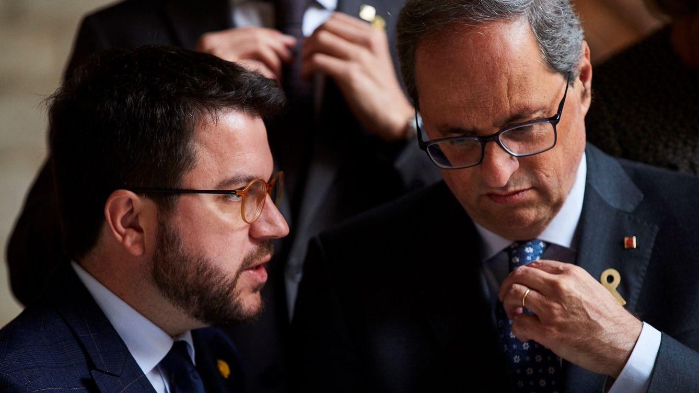 Foto: El presidente de la Generalitat, Quim Torra, y su vicepresidente, Pere Aragonès. (EFE)