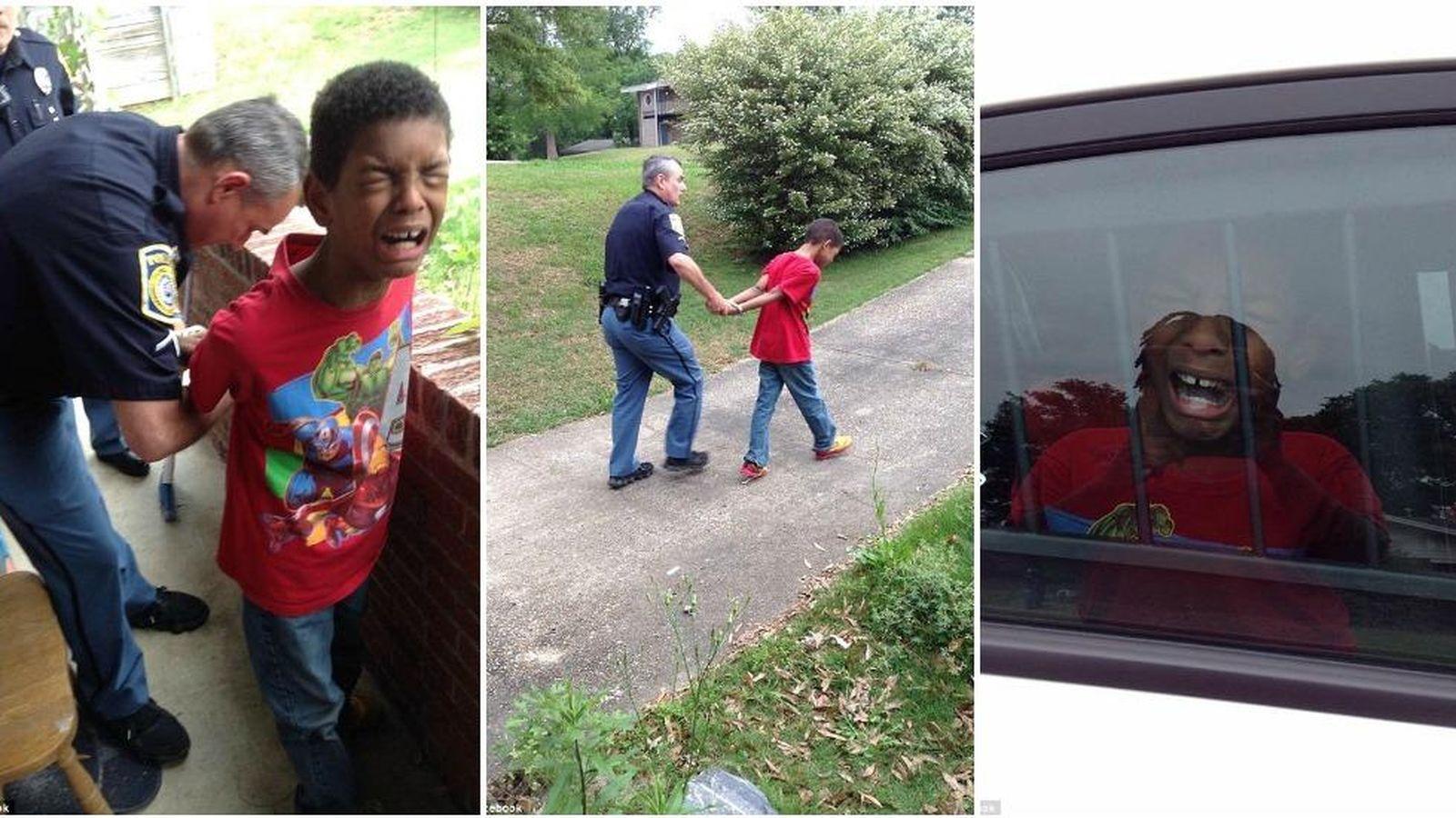 Foto: Fotografías del momento de la detención de Sean (Facebook de Chiquita Hill)