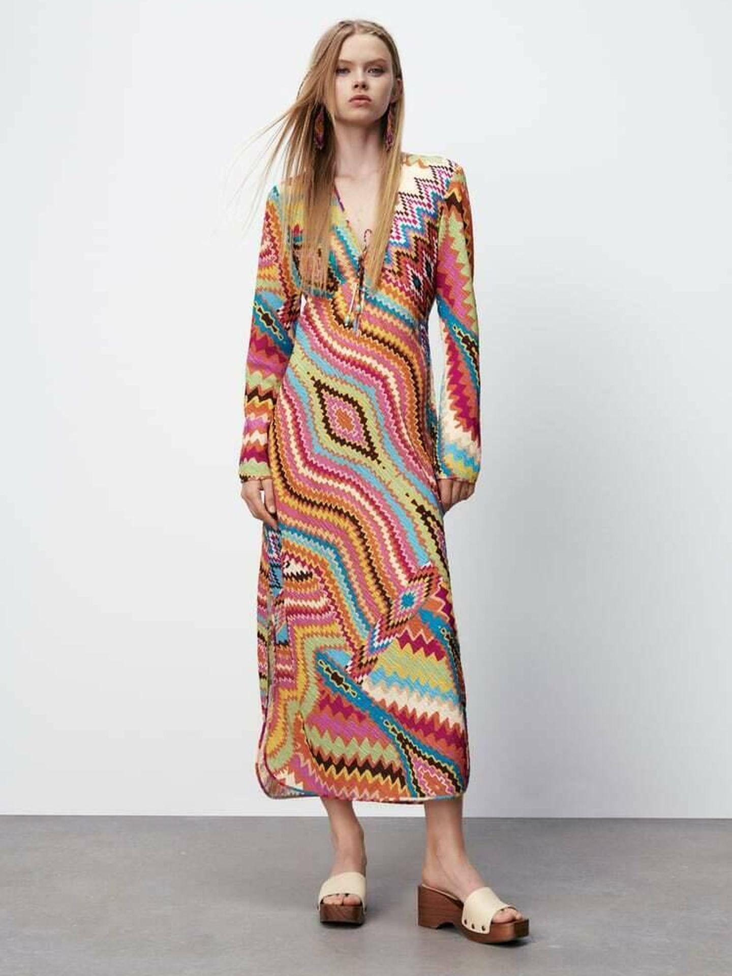 El nuevo vestido viral de Zara. (Cortesía)