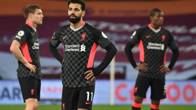 Salah, pensativo tras un partido del Liverpool. (EFE)
