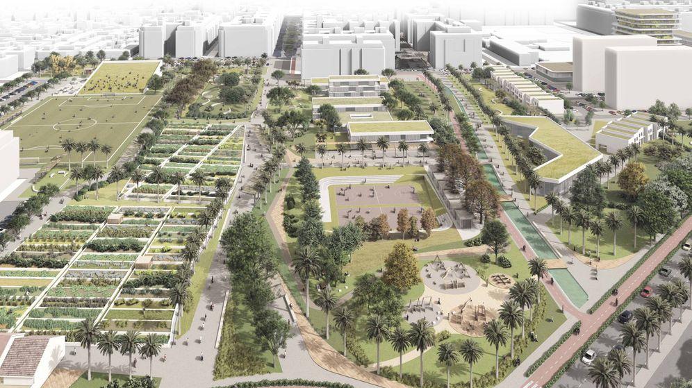 Foto: La almendra central del PAI de Benimaclet, de Metrovacesa, concentrará las zonas verdes y dotacionales.