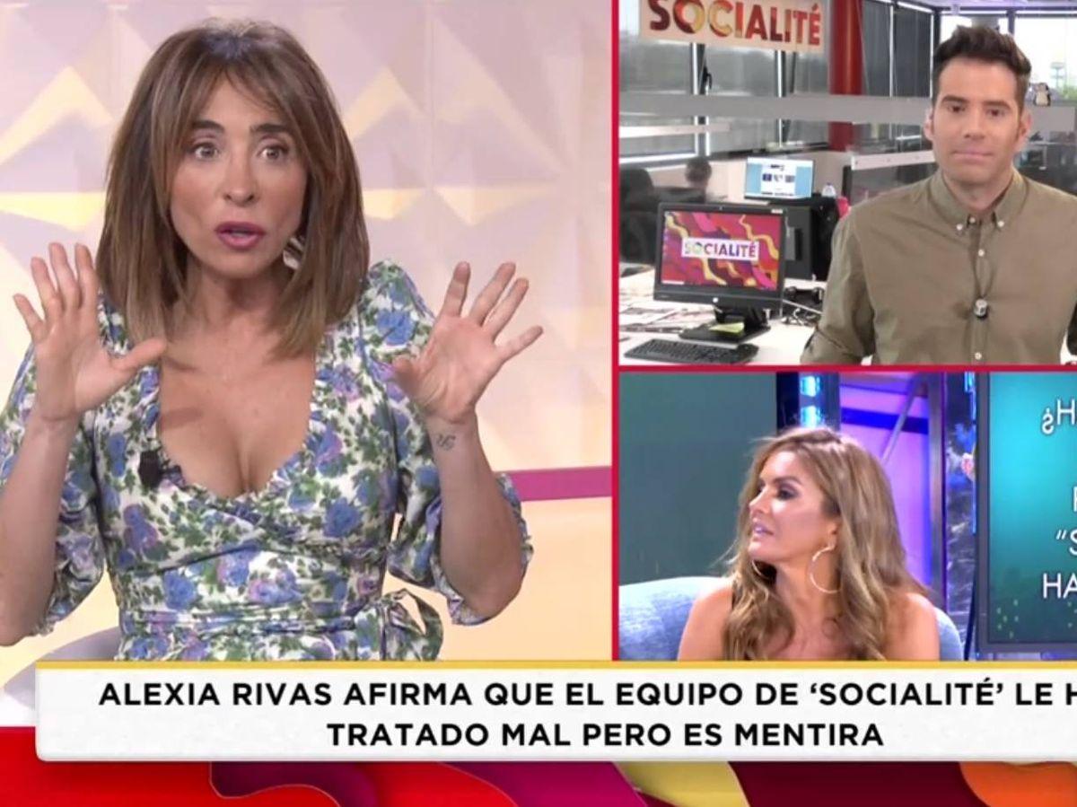 Foto: María Patiño, en 'Socialité'. (Telecinco).