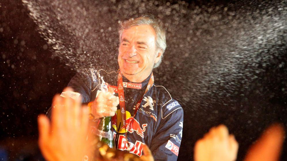 Foto: Carlos Sainz, tras ganar su segundo Dakar en 2018. (Reuters)