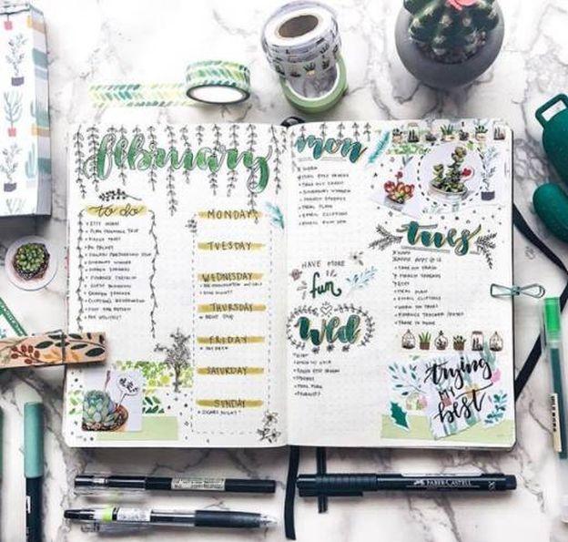 Foto: Una agenda en su versión más creativa. (Foto: Instagram Bullet Journals)