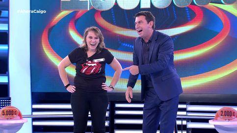 Una concursante de '¡Ahora caigo!' se lleva el premio máximo por un segundo