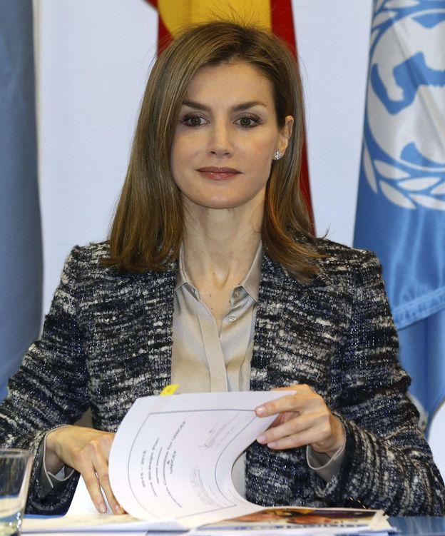 Foto: La Reina, durante la reunión del Patronato de Unicef (EFE)