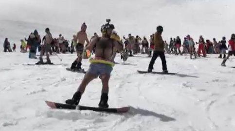 300 esquiadores bajan Sierra Nevada... en bañador