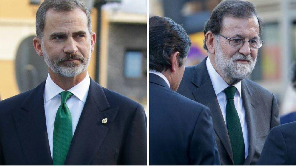 Felipe VI, Mariano Rajoy y el misterio de la corbata V.E.R.D.E.