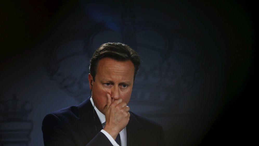 Foto: El primer ministro, David Cameron, en su comparecencia con el presidente del Gobierno. (Reuters)