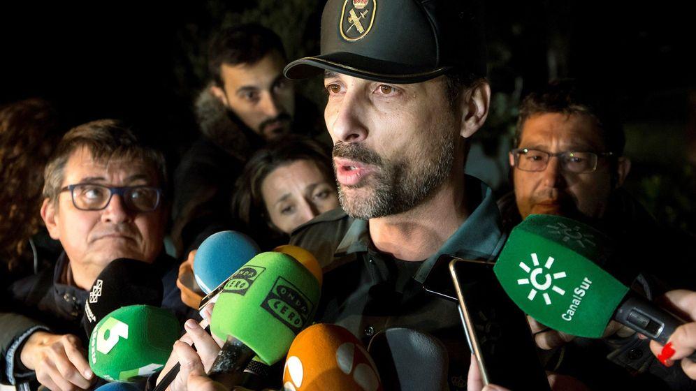 Foto: El portavoz de la Guardia Civil en Málaga, Jorge Martín. (EFE)