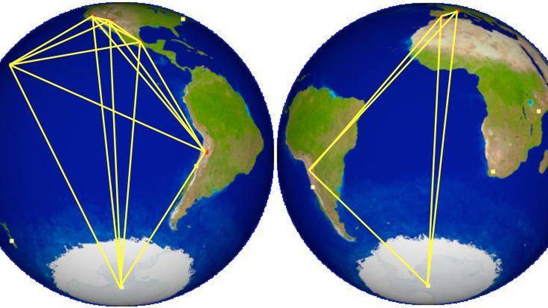 La red de telescopios del proyecto recorre todo el mundo