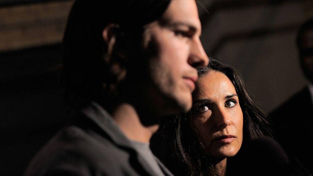 Foto: Demi Moore y Asthon Kutcher. (Getty)
