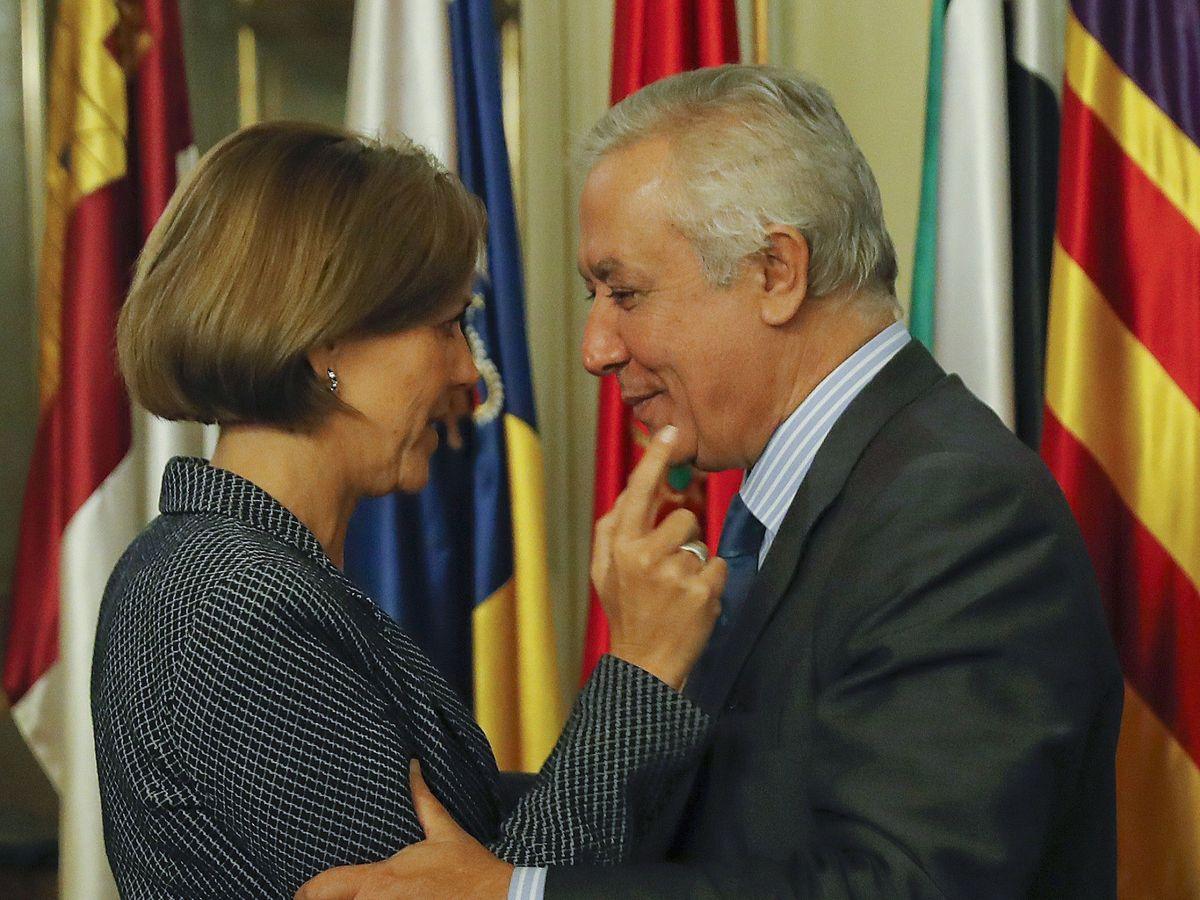 Foto: María Dolores de Cospedal y Javier Arenas en una imagen de archivo de 2016. (EFE)