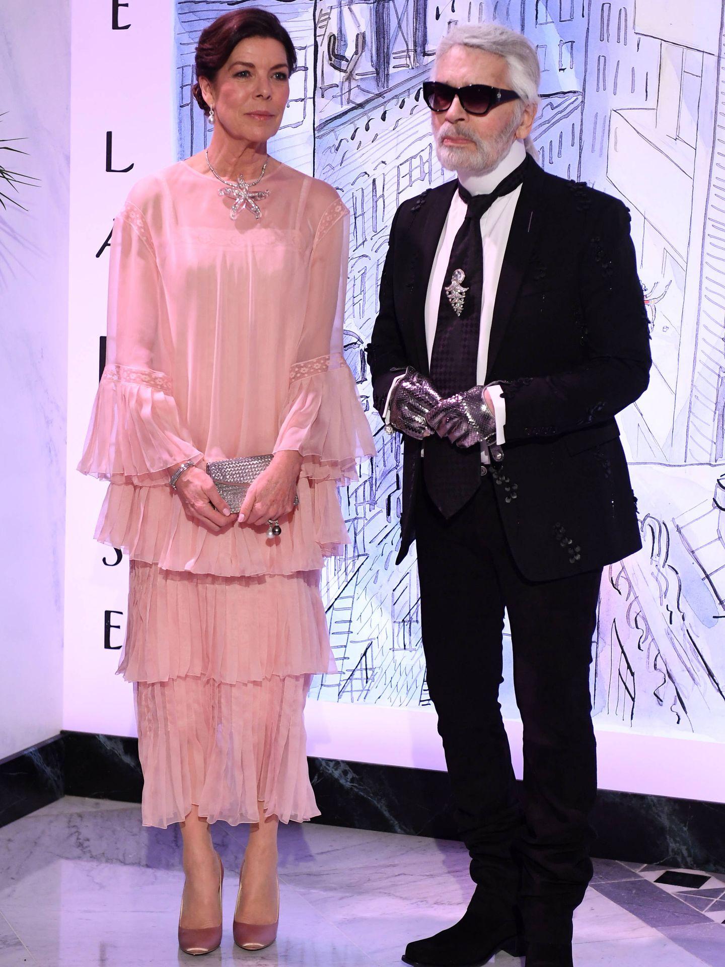 Karl Lagerfeld en su último Baile de la Rosa. (Getty)