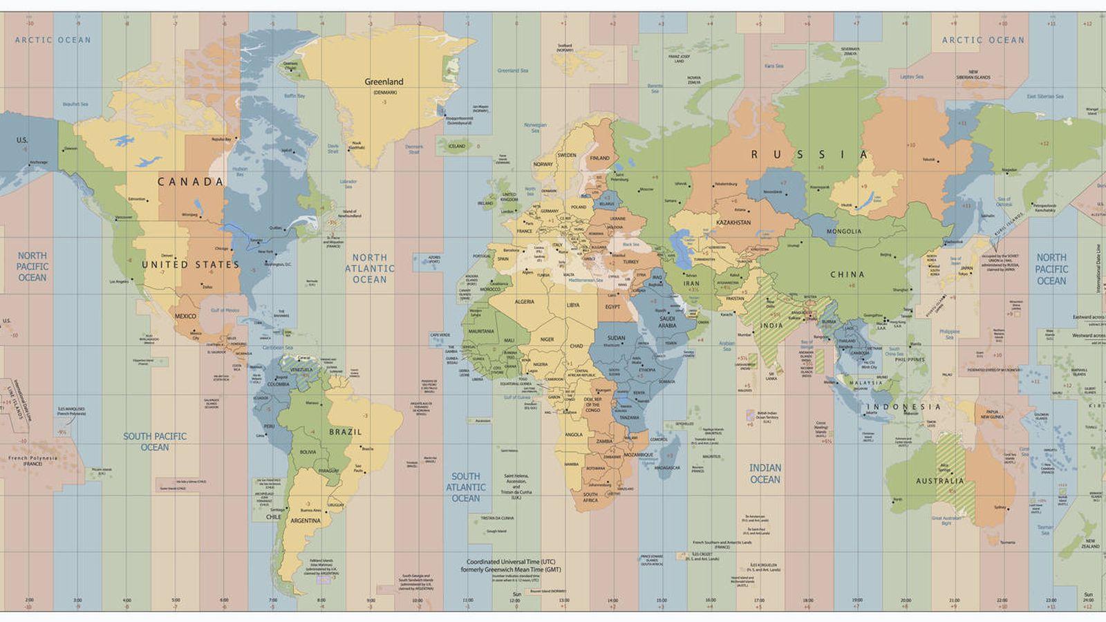 Foto: Un solo planeta, 24 husos horarios. (iStock)