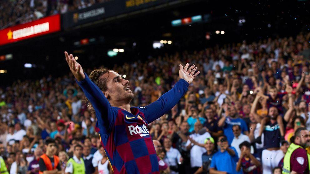 El confeti de Griezmann, lo único que sobró en la goleada del Barcelona al Betis