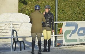 La infanta Elena y Luis Astolfi coinciden en un concurso de hípica de Badajoz