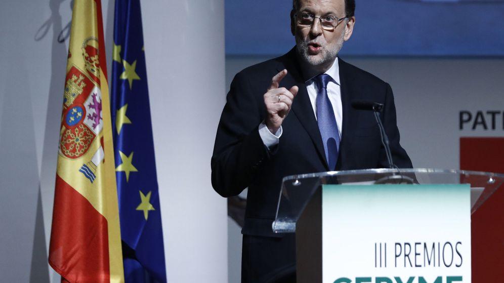 Foto: El presidente del Gobierno, Mariano Rajoy, durante su intervención en la entrega de los Premios Cepyme. (EFE)