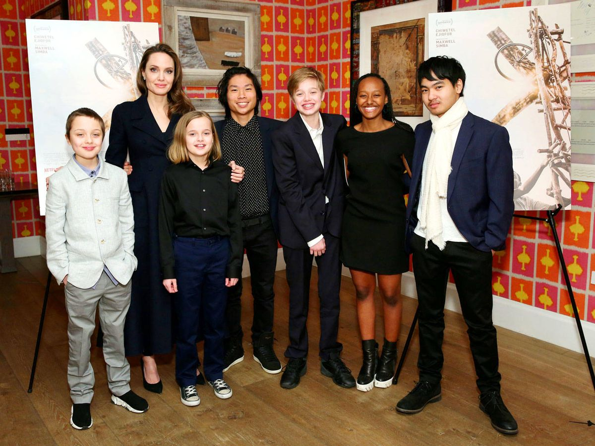 Photo: That's how Angelina Jolie and Brad Pitt's children have changed. (Getty)