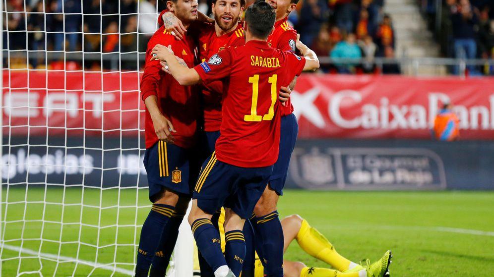 Foto: La Selección española celebra un gol. (Reuters)