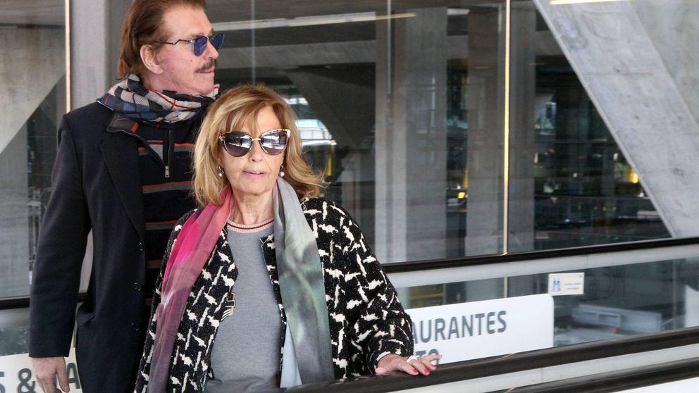María Teresa Campos y Bigote Arrocet salen de su 'escondite' de Canarias
