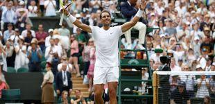 Post de Rafa Nadal arrasa a Joao Sousa y ya está en cuartos de final de Wimbledon