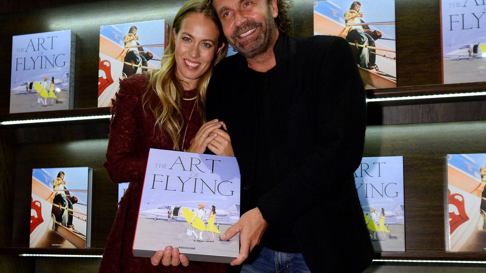 Foto: Thomas y Nina Flohr en la presentación de un libro sobre aviación en 2015. (Getty Images)