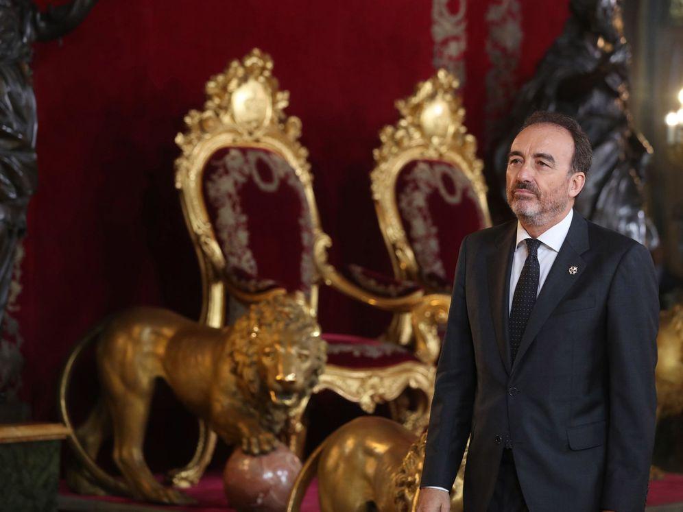 Foto: Manuel Marchena, durante la recepción en el Palacio Real por la Fiesta Nacional. (EFE)