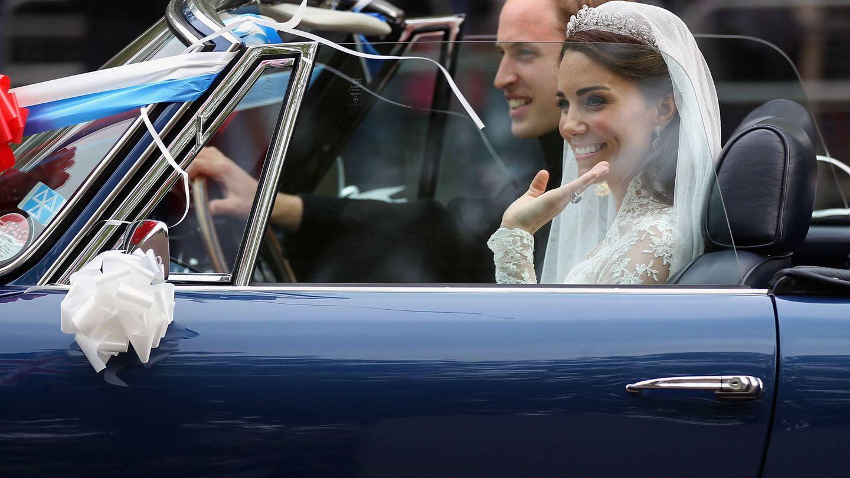 El príncipe Guillermo y Kate Middleton, recién casados. (Getty)