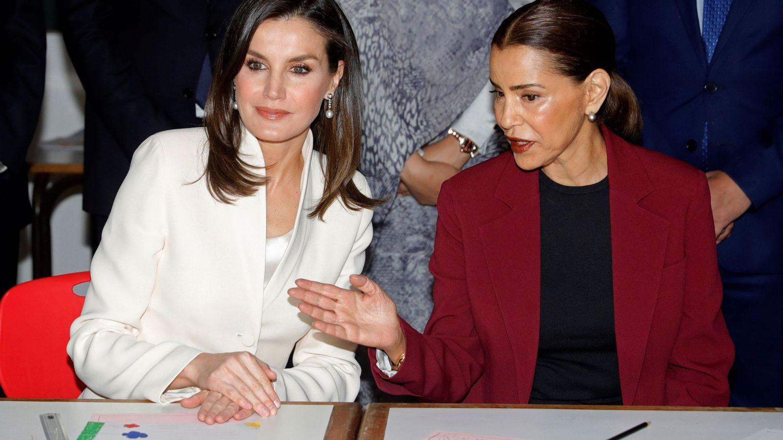 Foto: La Reina y Lalla Meryem. (EFE)