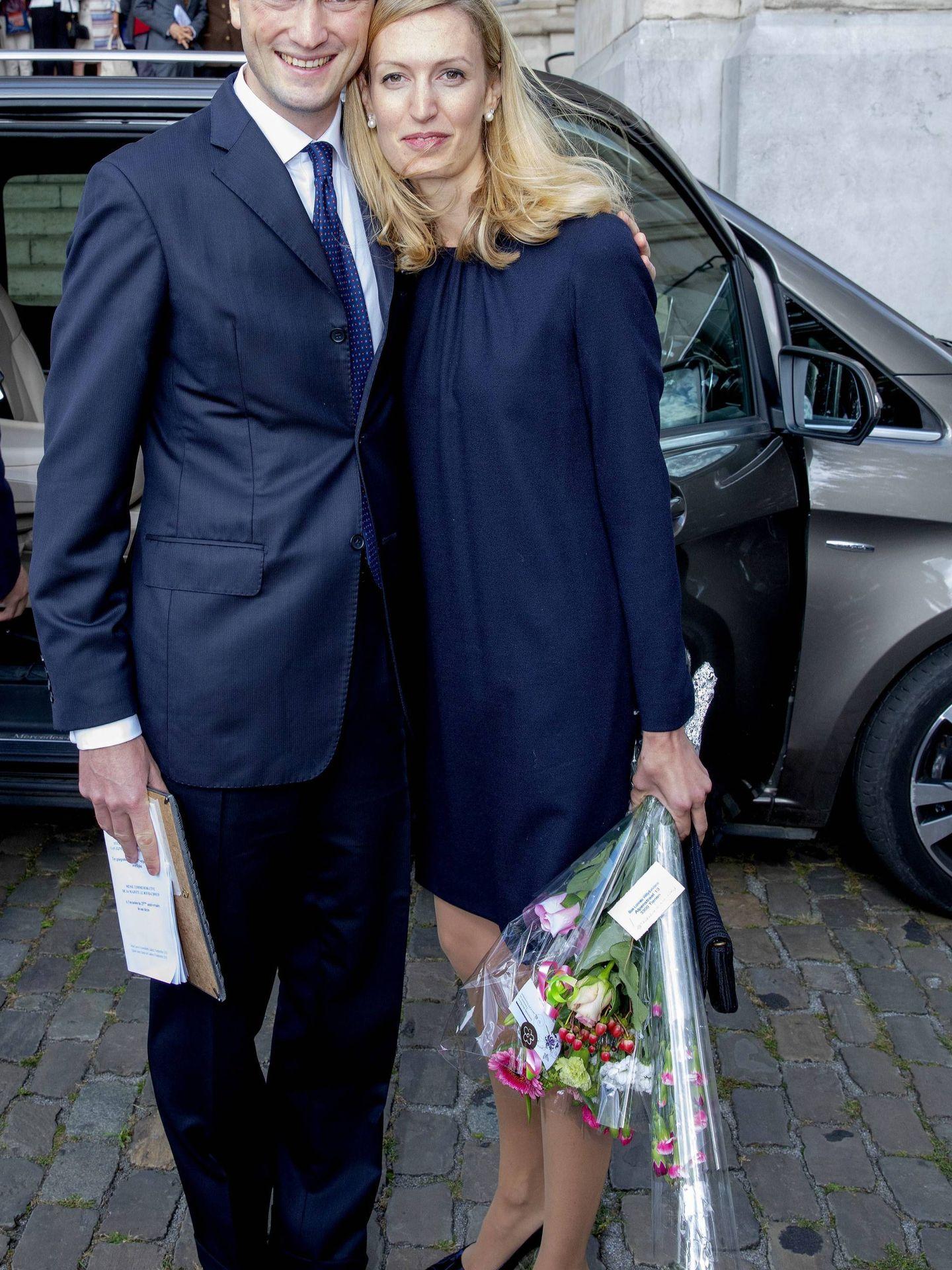 Amadeo de Bélgica (hijo de Astrid), con su mujer, Elisabetta. (Cordon Press)