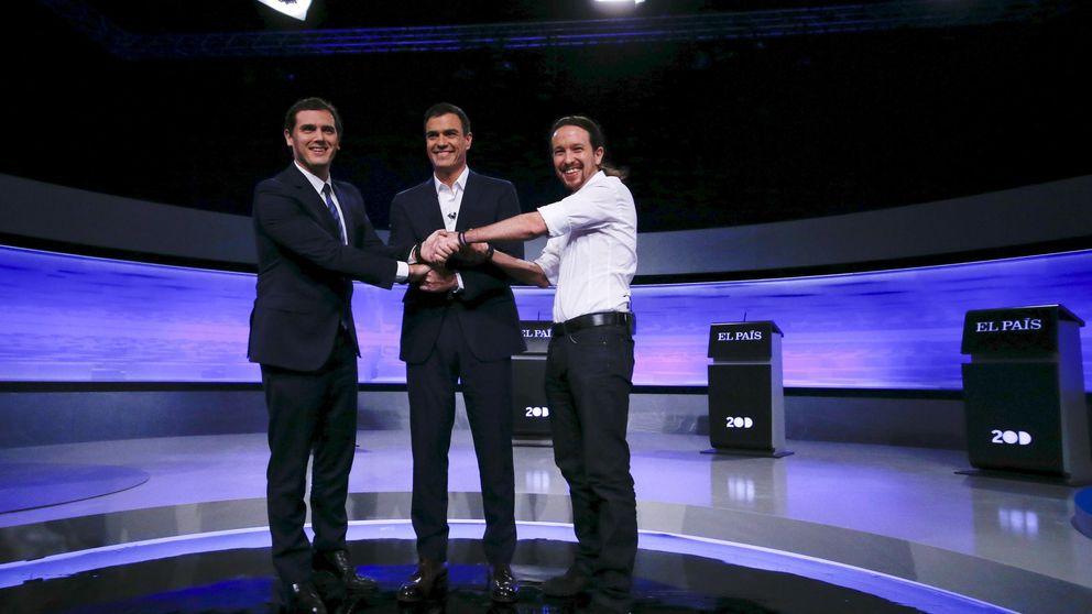 La corrupción tensa el debate a tres en el que falta Rajoy
