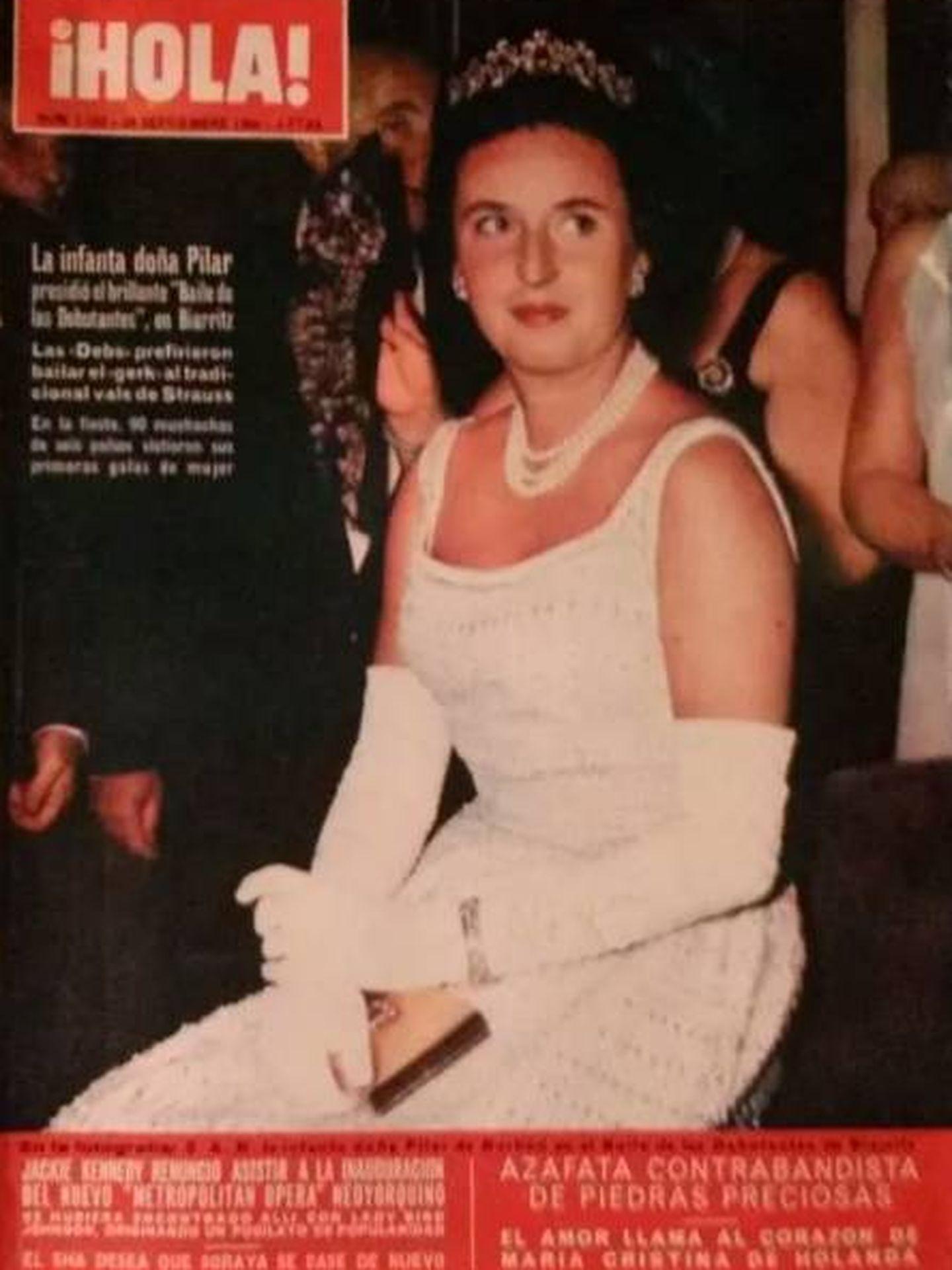 La infanta, con la tiara en la portada de '¡Hola!'.