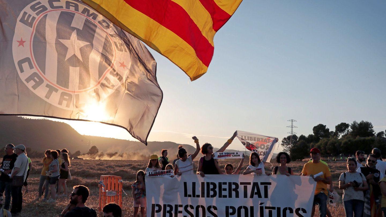 Manifestación a favor de los políticos presos. (EFE)