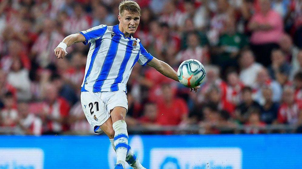 Foto: Martin Odegaard, durante un partido con la Real Sociedad. (Reuters)