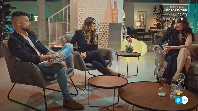 Rubén y Fani, en 'La isla de las tentaciones'. (Telecinco)